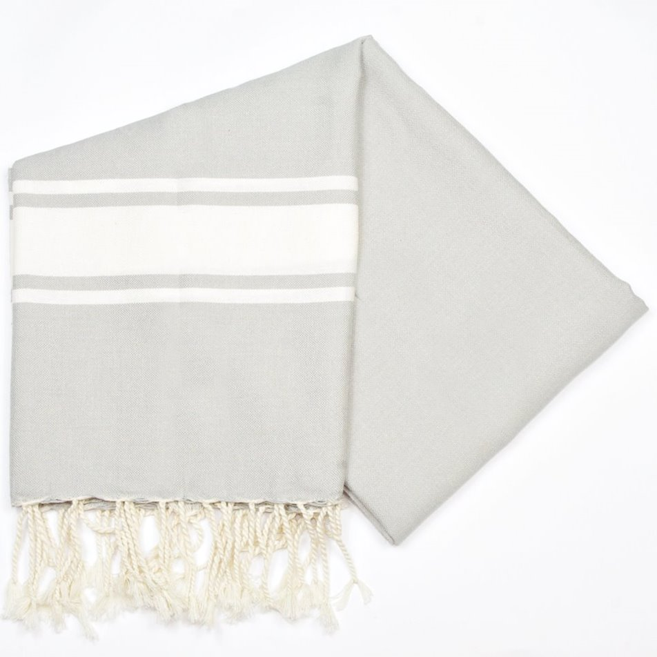 Maldives Grey Hammam Towels