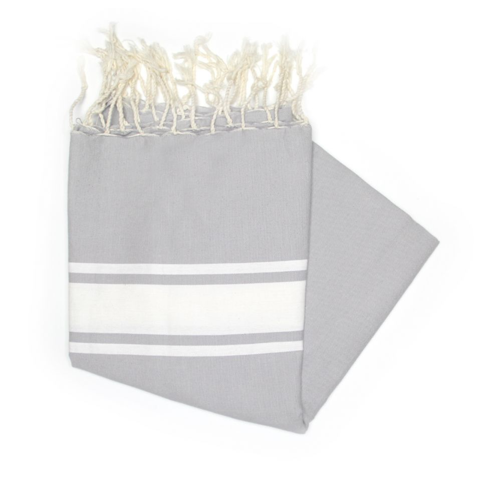 Maldives Light Grey Hammam Towels For Spas