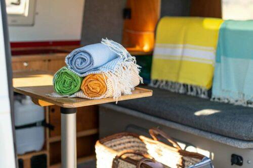 Hammam Towels in our VW T4 Camper Van
