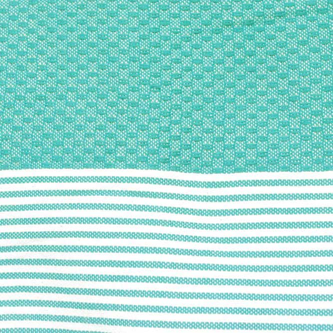 Zanzibar Teal 100% Cotton Hammam Towels