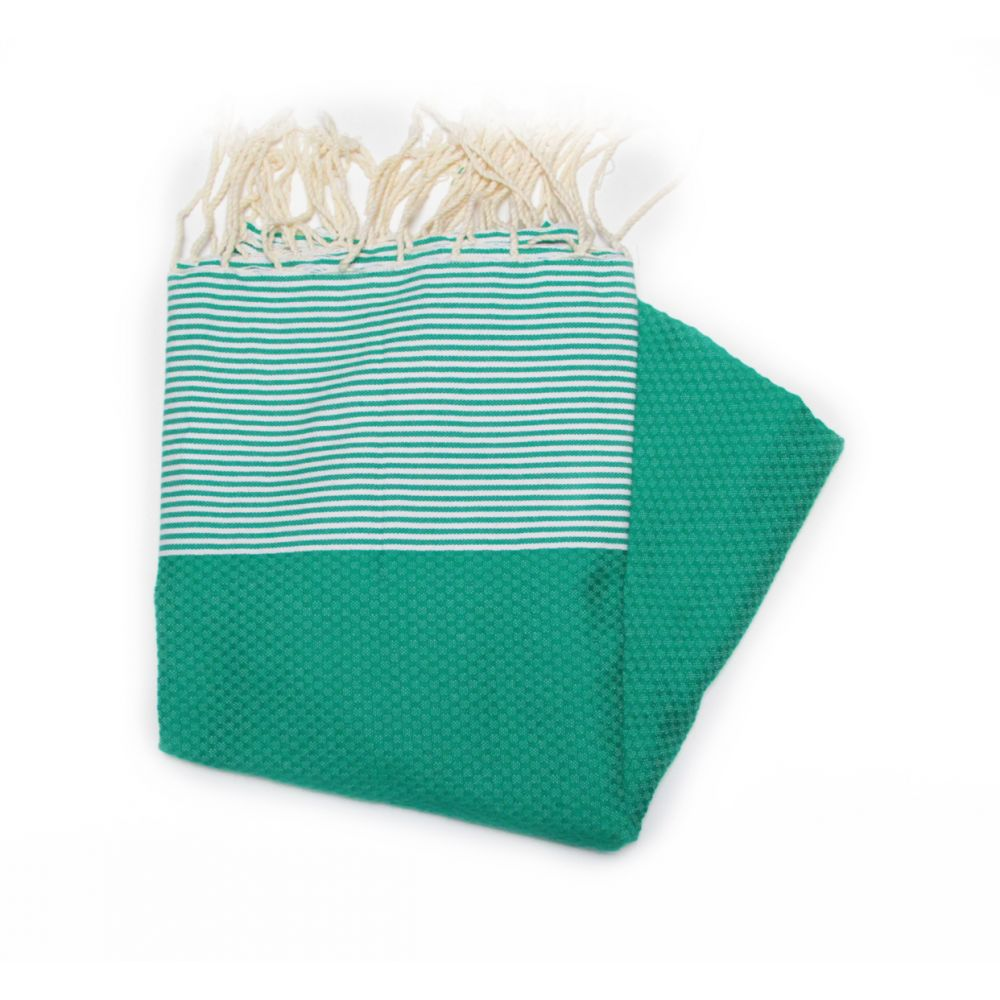 Zanzibar Green Hammam Towels Are Ideal For The Beach