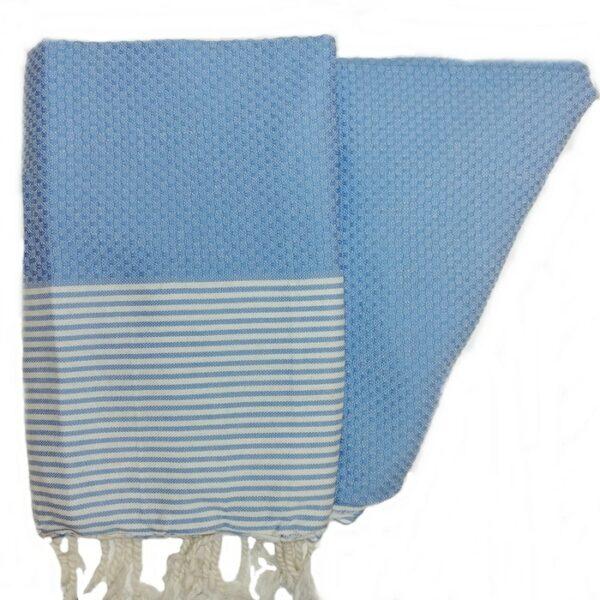 Zanzibar Light Blue Hammam Towel