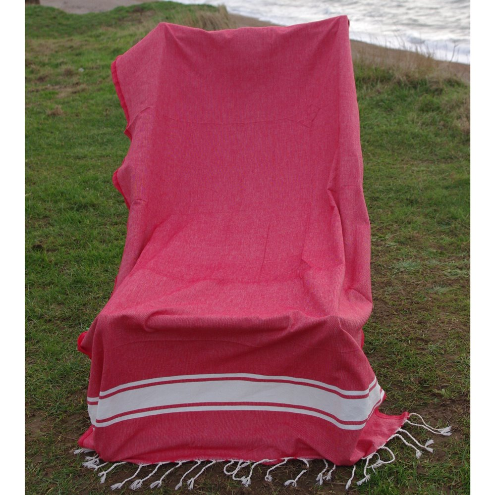 Maldives Crimson1 Hammam Towel