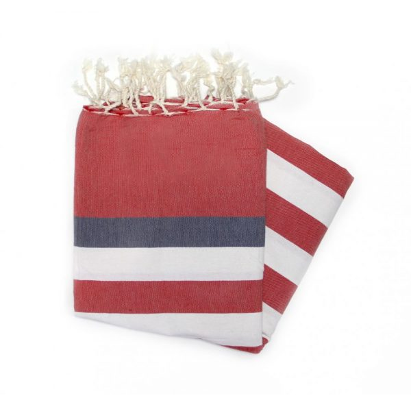 Bali Red Hammam towels are great for the beach