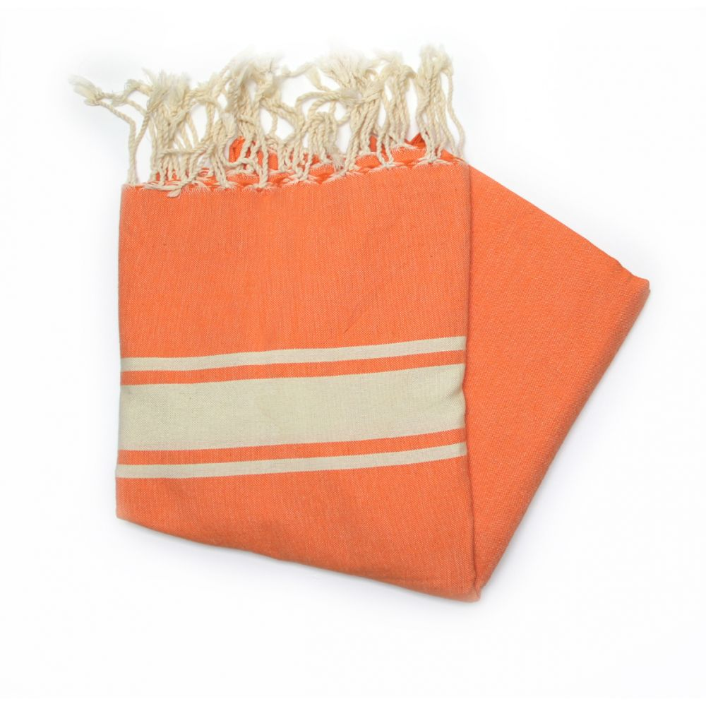 Maldives Orange Hammam Towels Are Great For The Beach