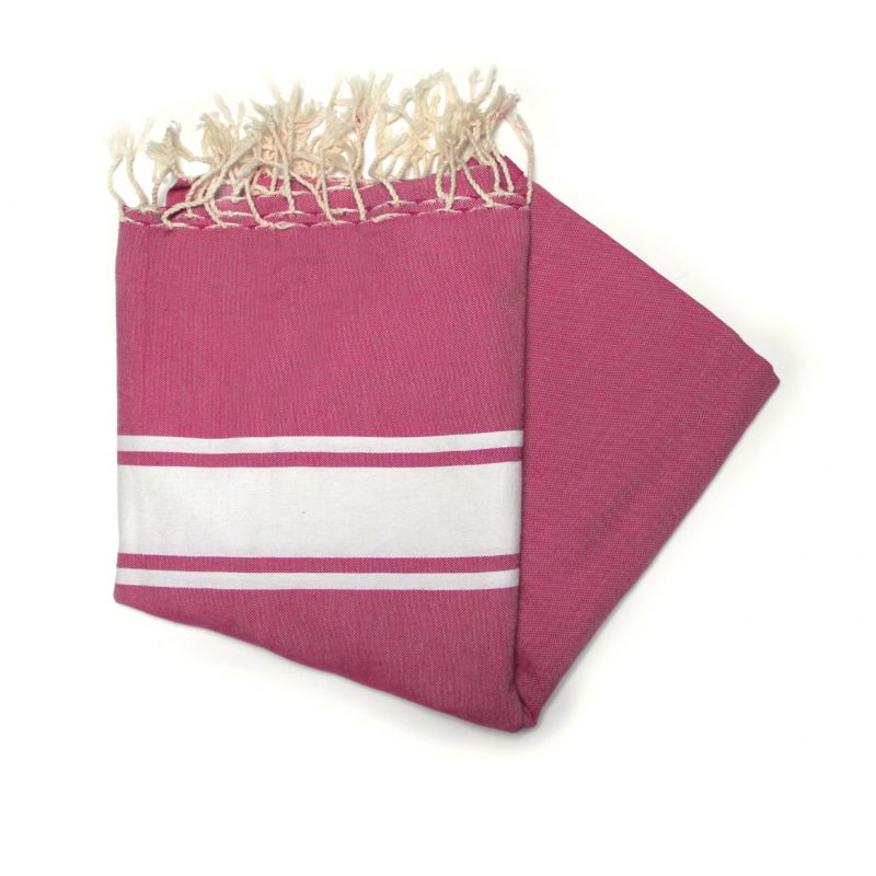 Maldives Raspberry Deck Towels
