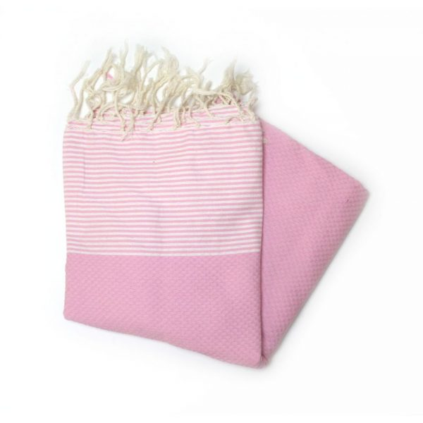 Zanzibar Pink Hammam Towels for the Beach