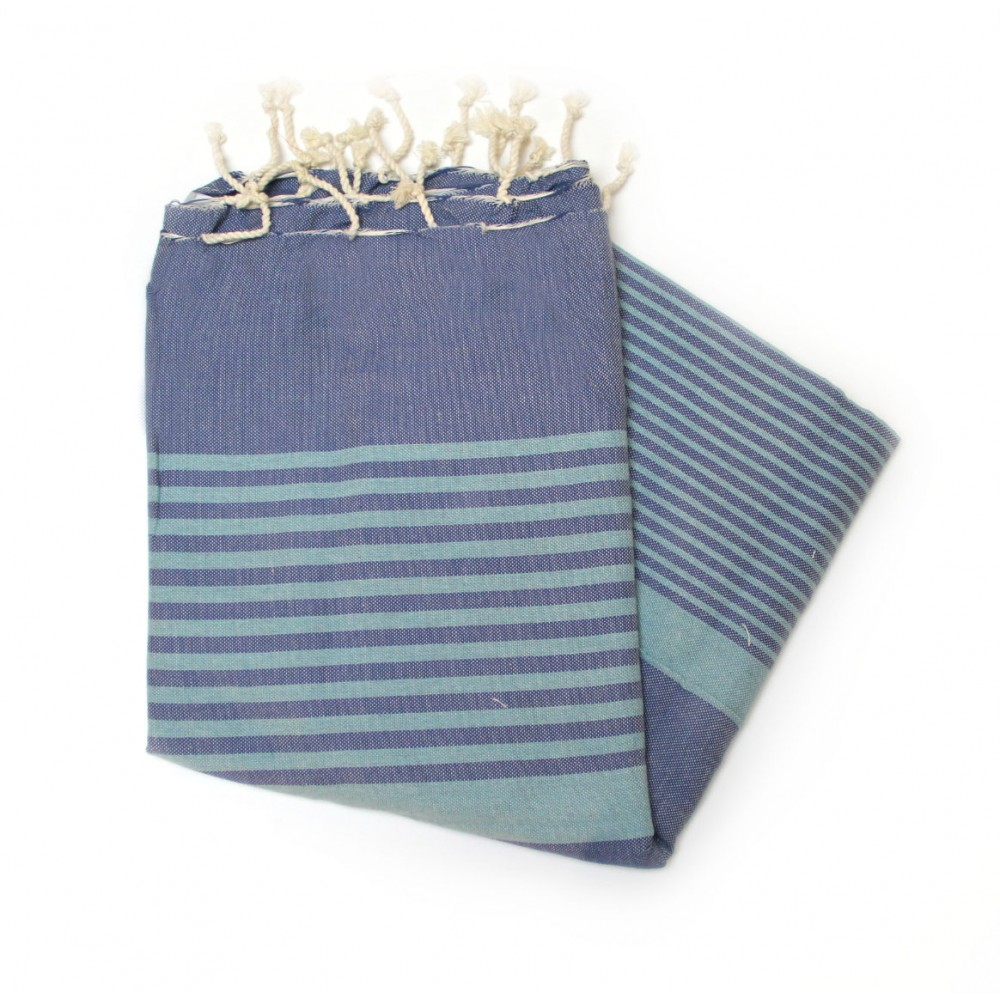 Dorset Blue Jean Hammam Towels For The Beach