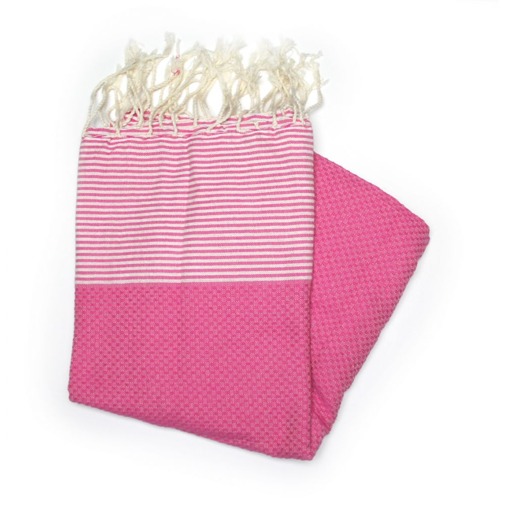 Zanzibar Fuchsia Hammam Towels For The Beach