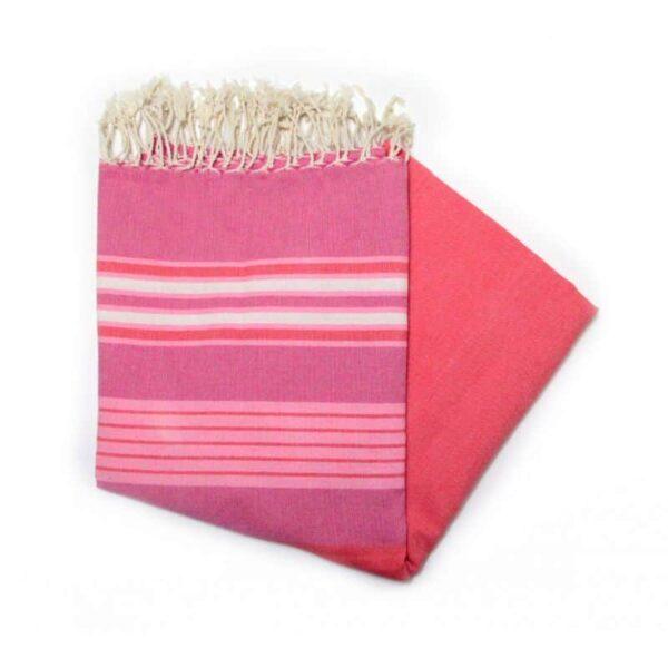 Dubai Pink hammam towel the perfect travel companion