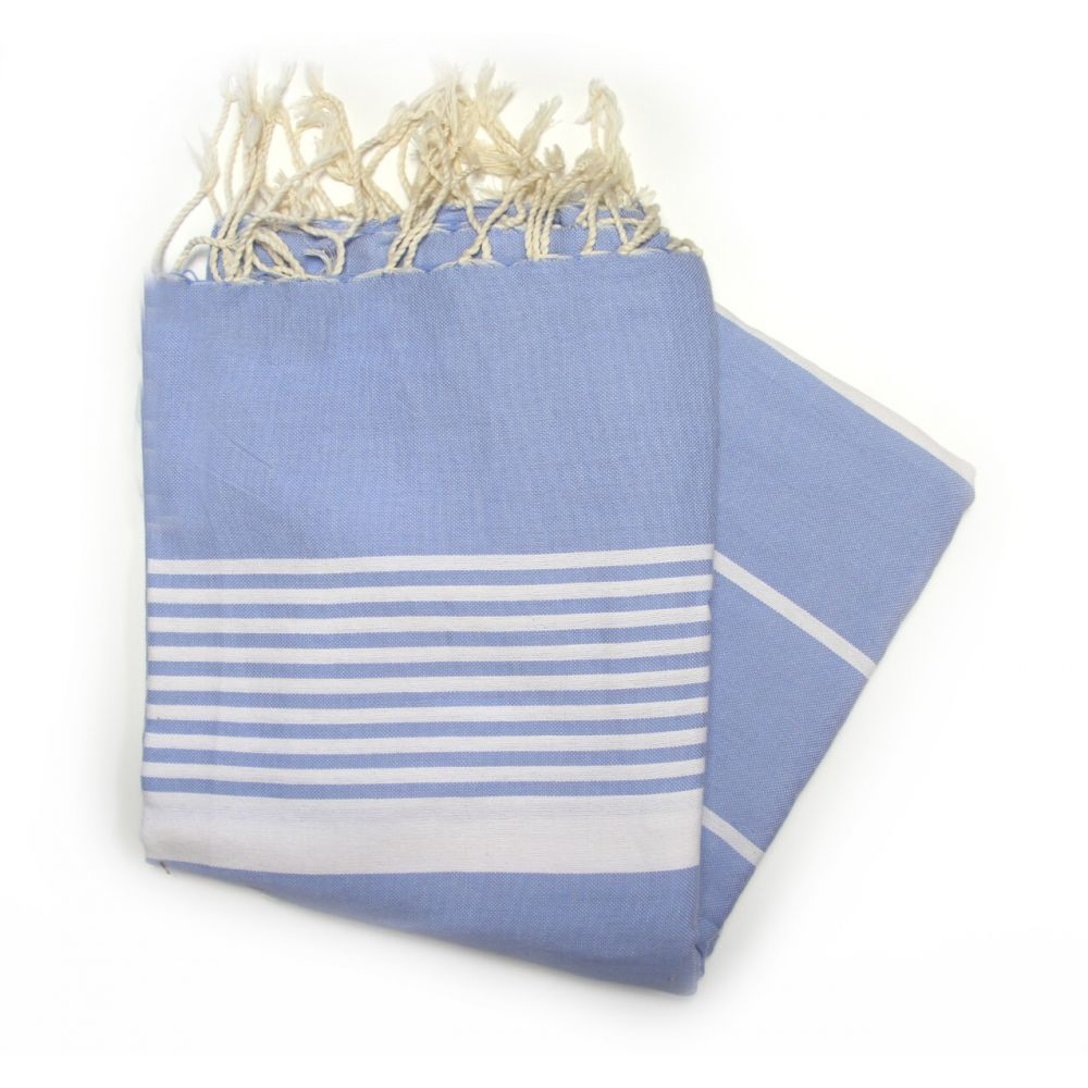 Grande Ocean Blue Hammam Towels Ideal For Sharing