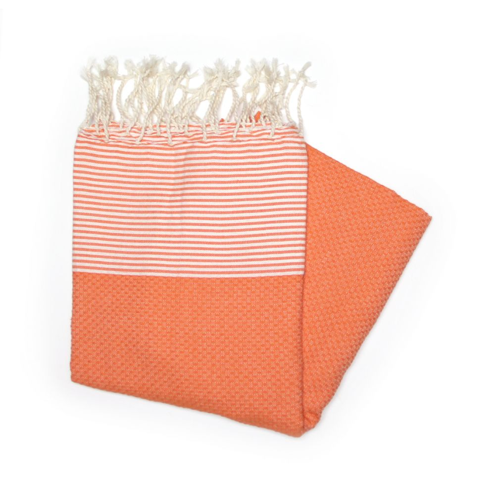 Zanzibar Orange Hammam Towel Idae For The Beach