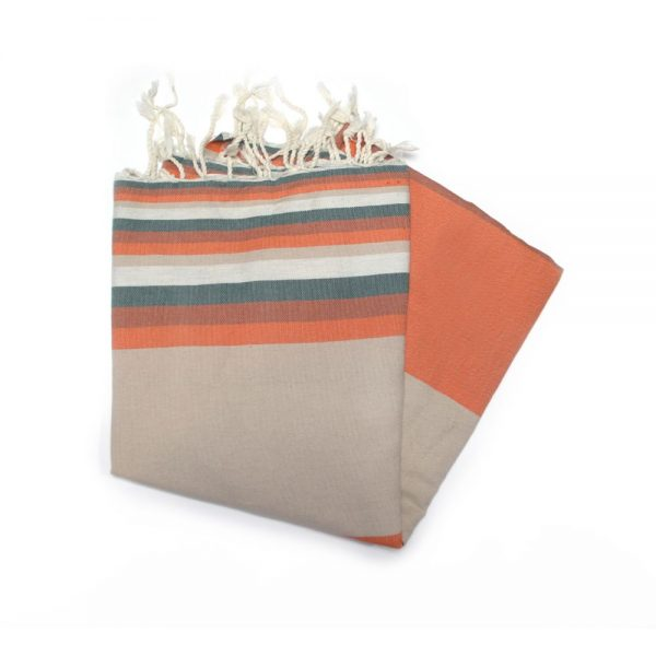 Mali Orange hammam towels are ideal for the beach