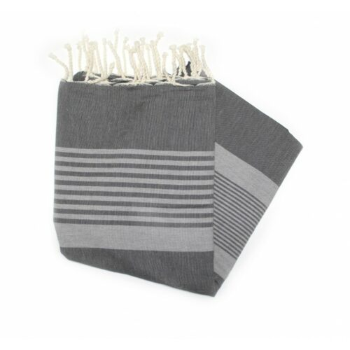 Dorset Charcoal Hammam Towels Are Great For The Beach