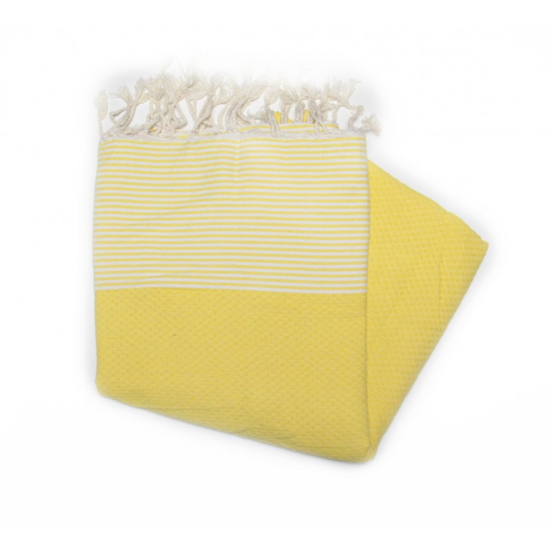 Zanzibar Canary Yellow Deck Towels