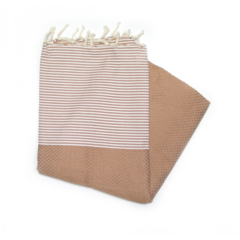 Zanzibar Caramel Hammam Towels From Hammams UK