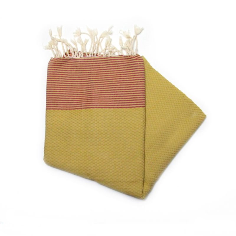 Zanzibar Mustard Hammam Towel Great As Deck Towels